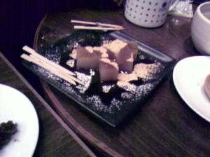 Japanese deserts after dinner